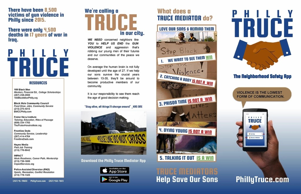 Philly Truce App was created by concern residents of Philadelphia doing our part to reduce gun violence in Philadelphia by empowering our communities with conflict resolution skills.